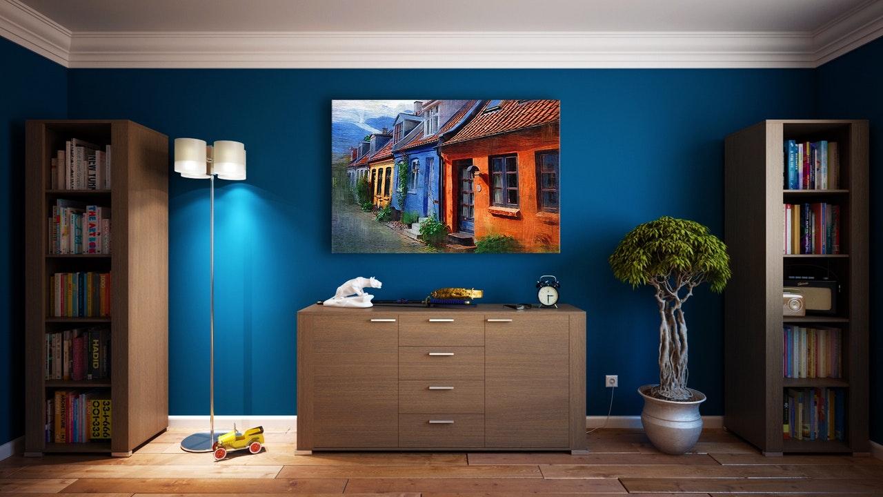 bild på inredning i vardagsrum